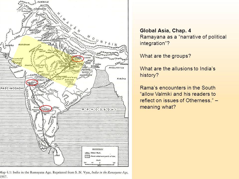 Global Asia, Chap. 4 Ramayana as a narrative of political integration .
