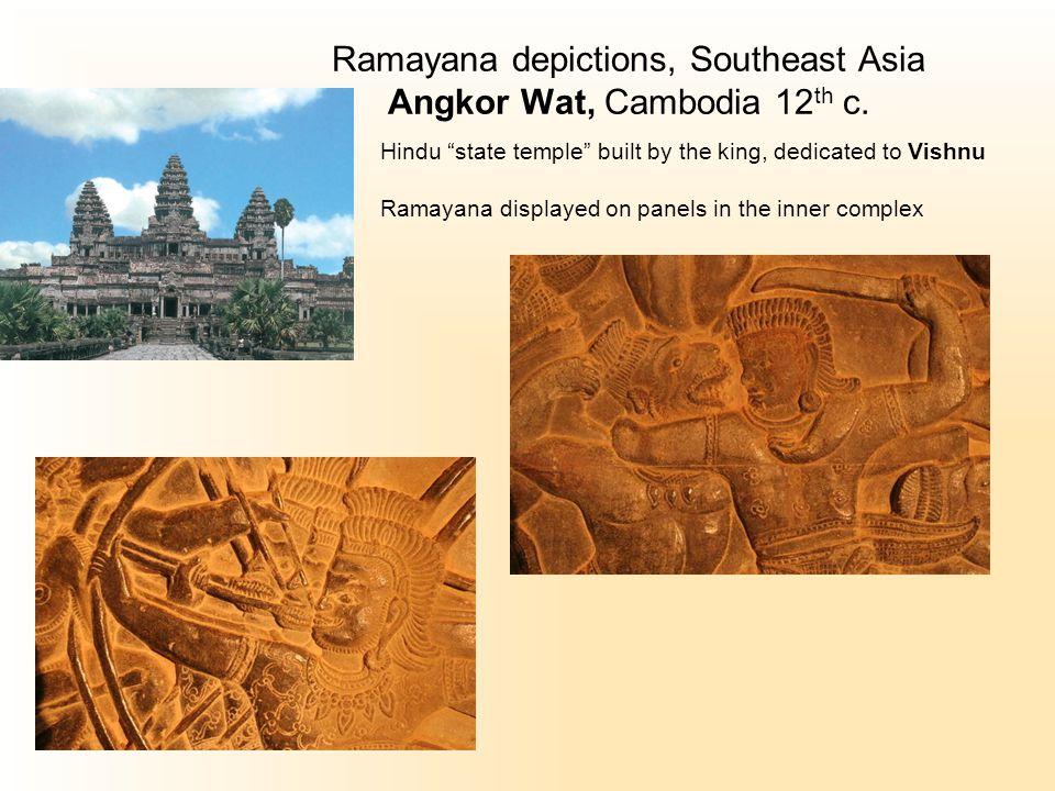 Ramayana depictions, Southeast Asia Angkor Wat, Cambodia 12 th c.