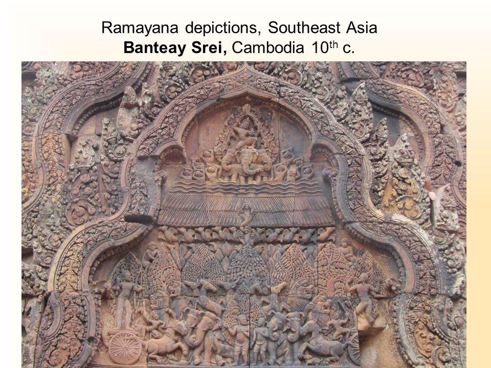 Ramayana depictions, Southeast Asia Banteay Srei, Cambodia 10 th c.