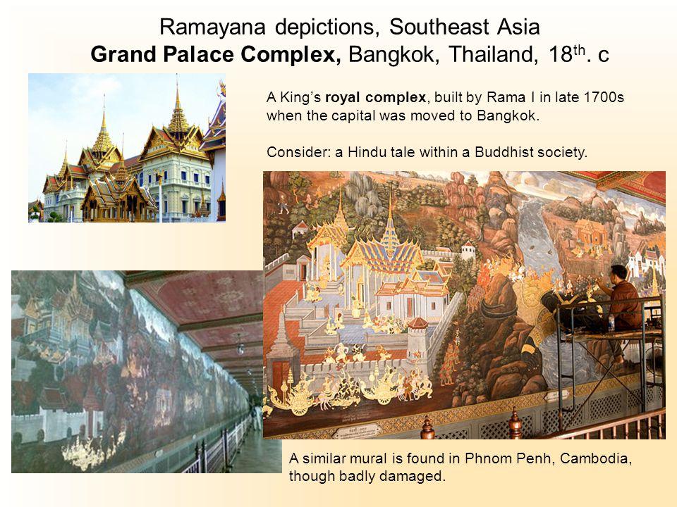 Ramayana depictions, Southeast Asia Grand Palace Complex, Bangkok, Thailand, 18 th.