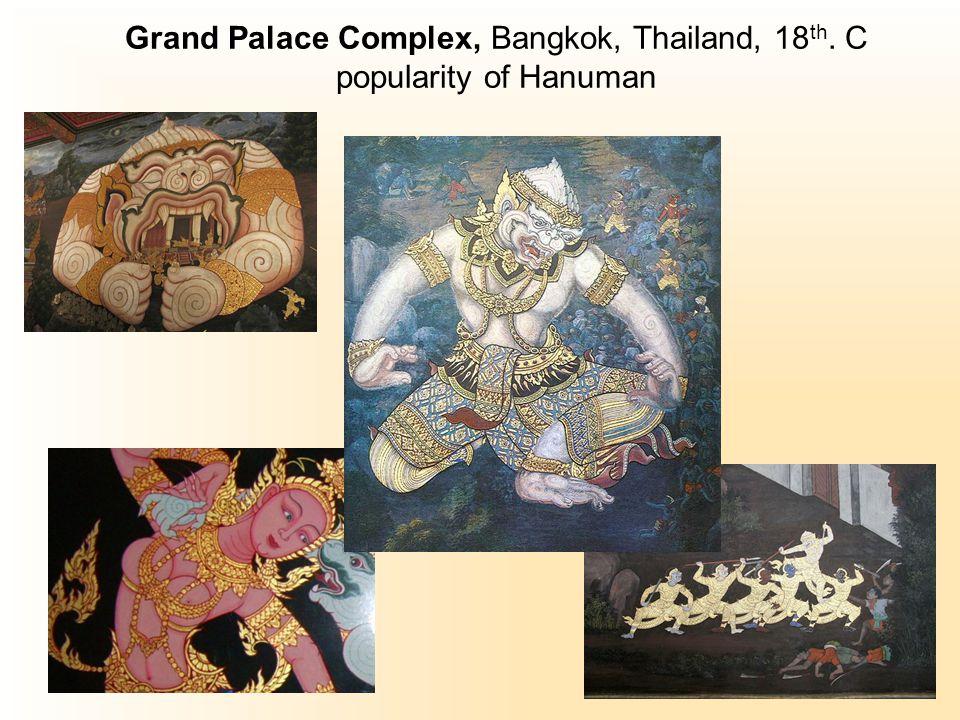Grand Palace Complex, Bangkok, Thailand, 18 th. C popularity of Hanuman
