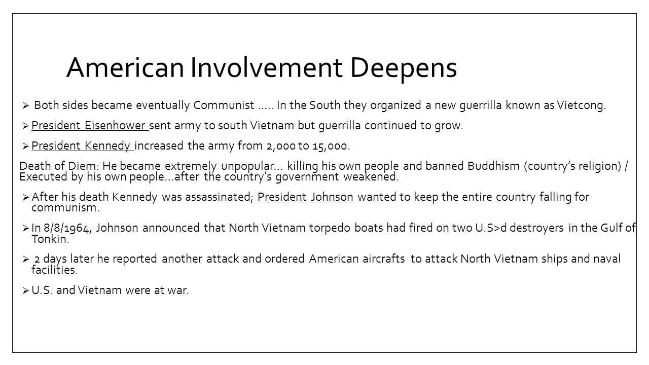 The War's Human Toll 1 million Vietnamese soldiers died (north and South) 58,000 young American and some 300,000 injured.