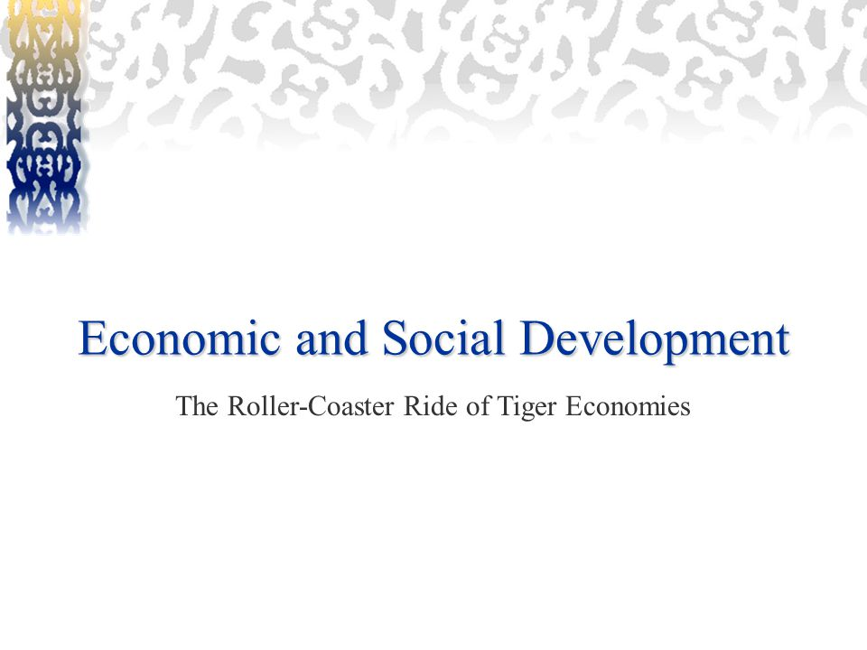 Economic and Social Development The Roller-Coaster Ride of Tiger Economies