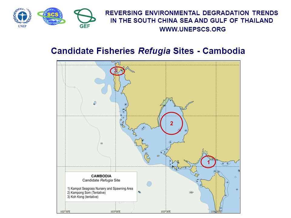 Candidate Fisheries Refugia Sites - Cambodia
