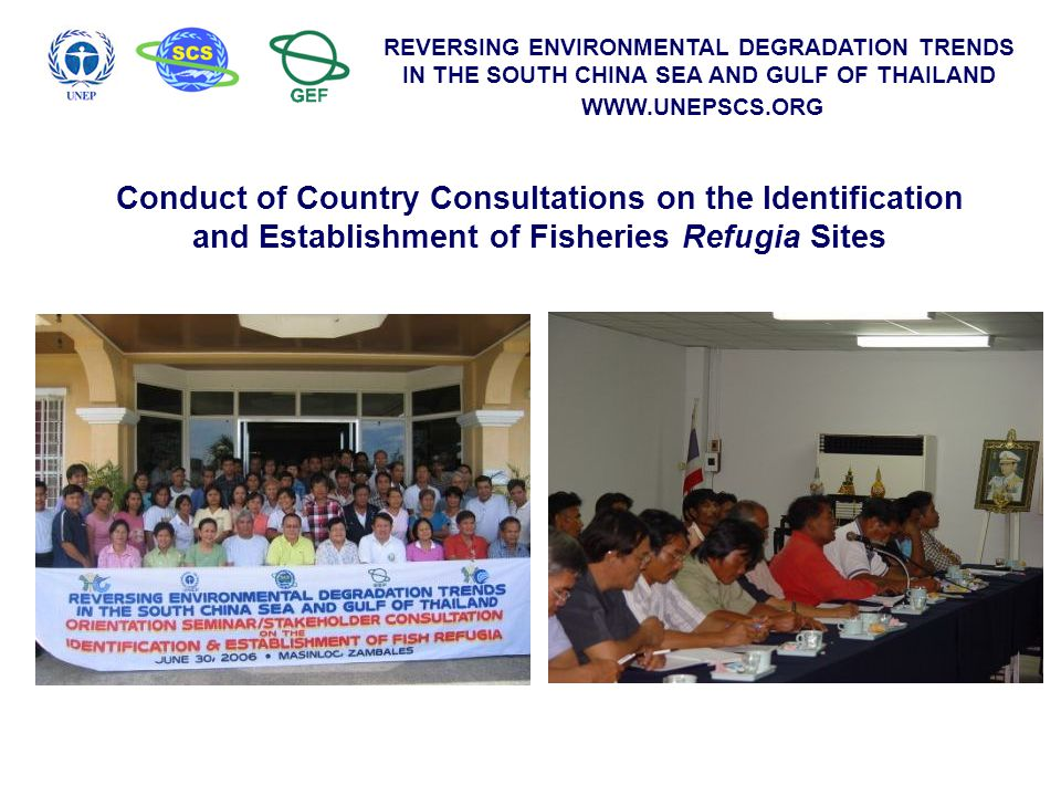 Conduct of Country Consultations on the Identification and Establishment of Fisheries Refugia Sites