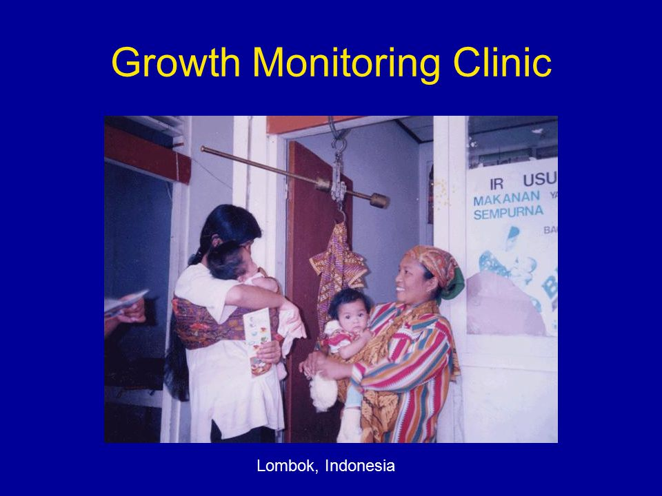 Growth Monitoring Clinic Lombok, Indonesia