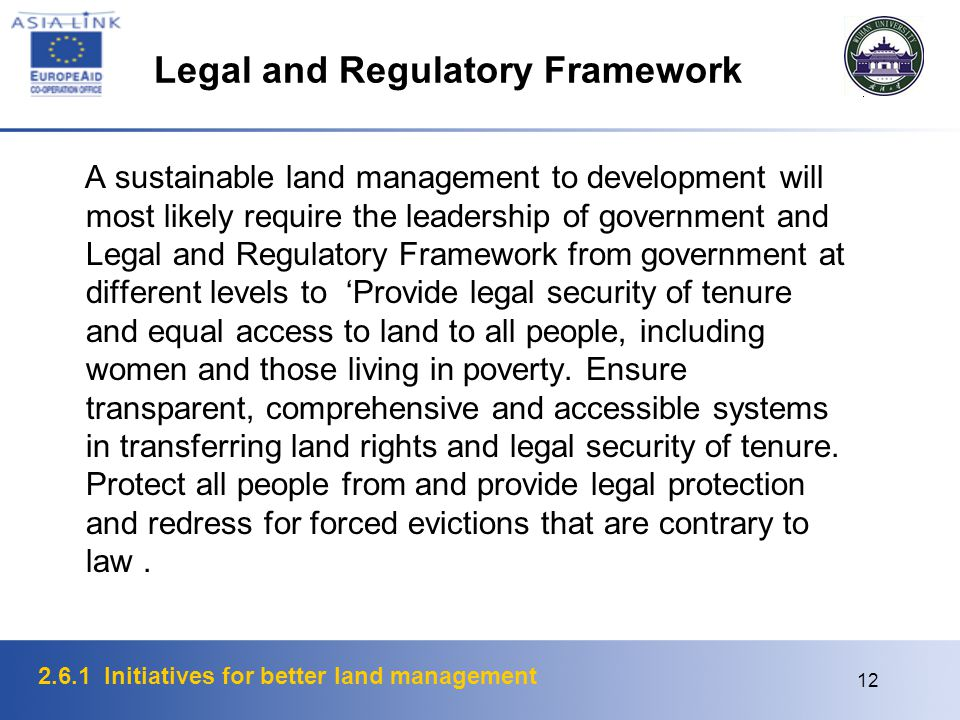2.6.1 Initiatives for better land management 13 Land Administration The land administration perspective includes understanding the changing humankind-land relationship, land tenure issues such as native title, institutional and administrative issues such as the relationship between infrastructures and the business system they support, and technical issues such as those concerned with the use of the World Wide Web (WWW).