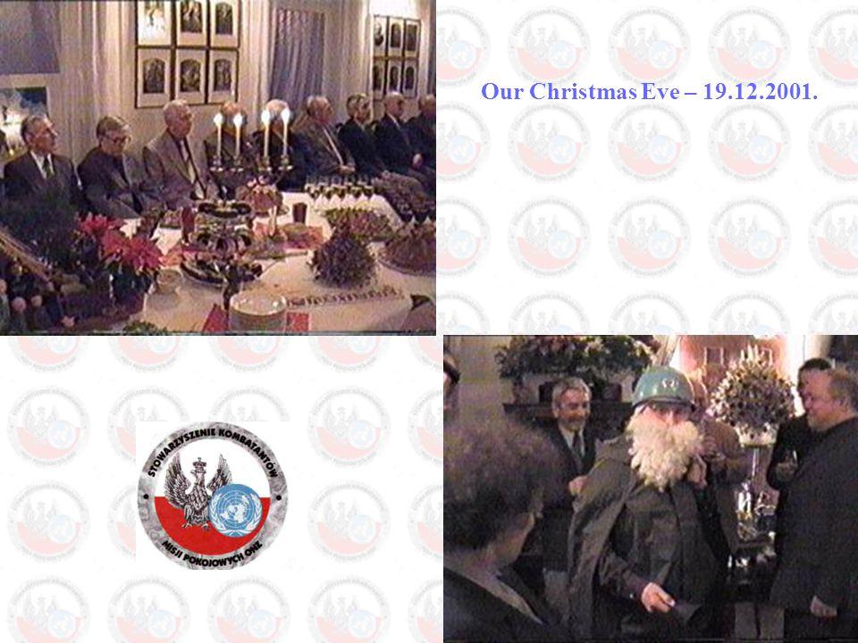 Our Christmas Eve – 19.12.2001.