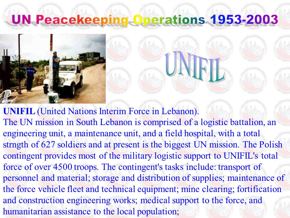 UNIFIL (United Nations Interim Force in Lebanon).