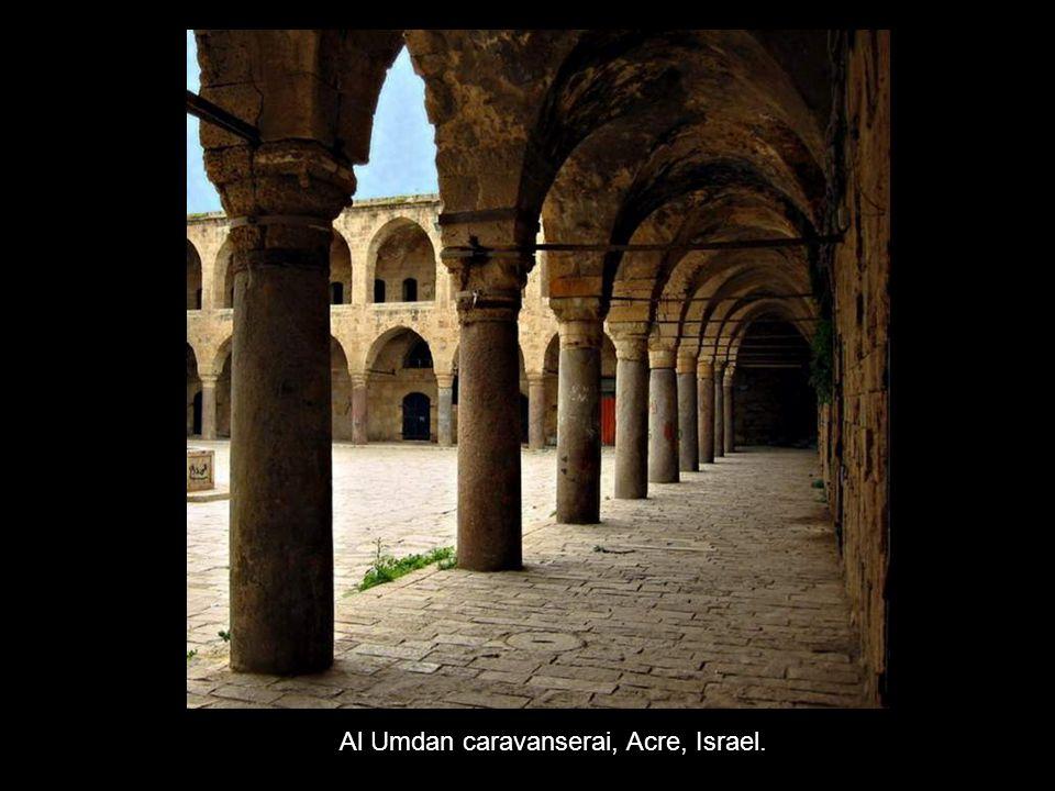 Al Umdan caravanserai, Acre, Israel.