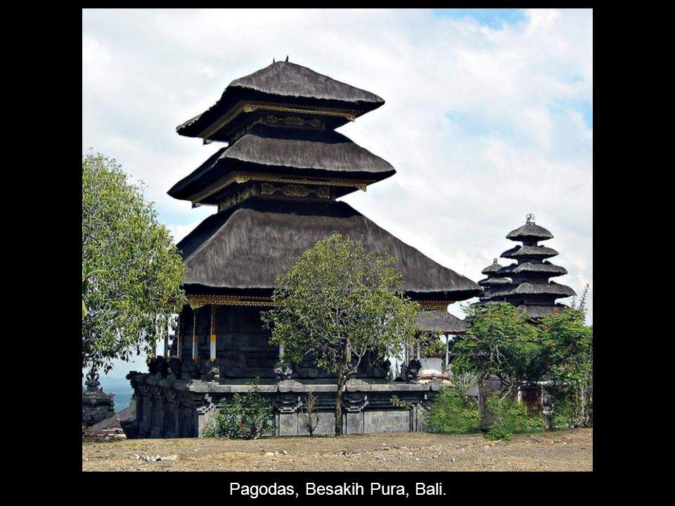 Pagodas, Besakih Pura, Bali.