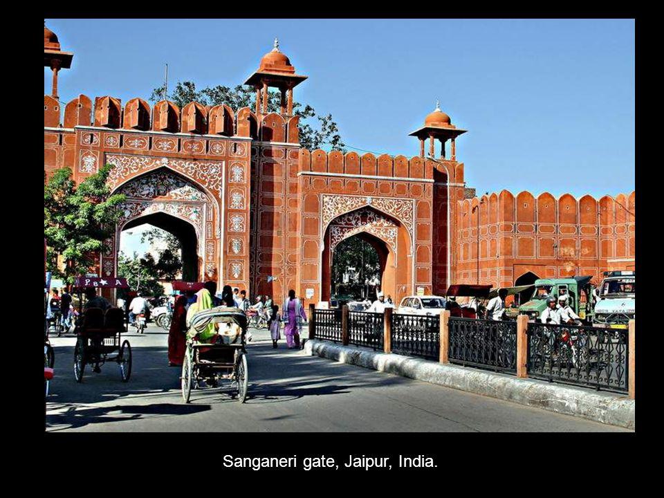 Sanganeri gate, Jaipur, India.