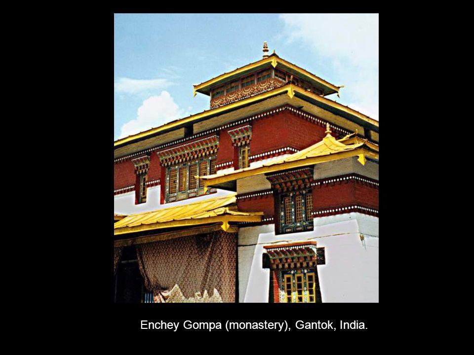 Enchey Gompa (monastery), Gantok, India.