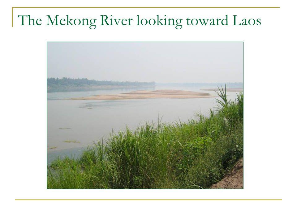 The Mekong River looking toward Laos