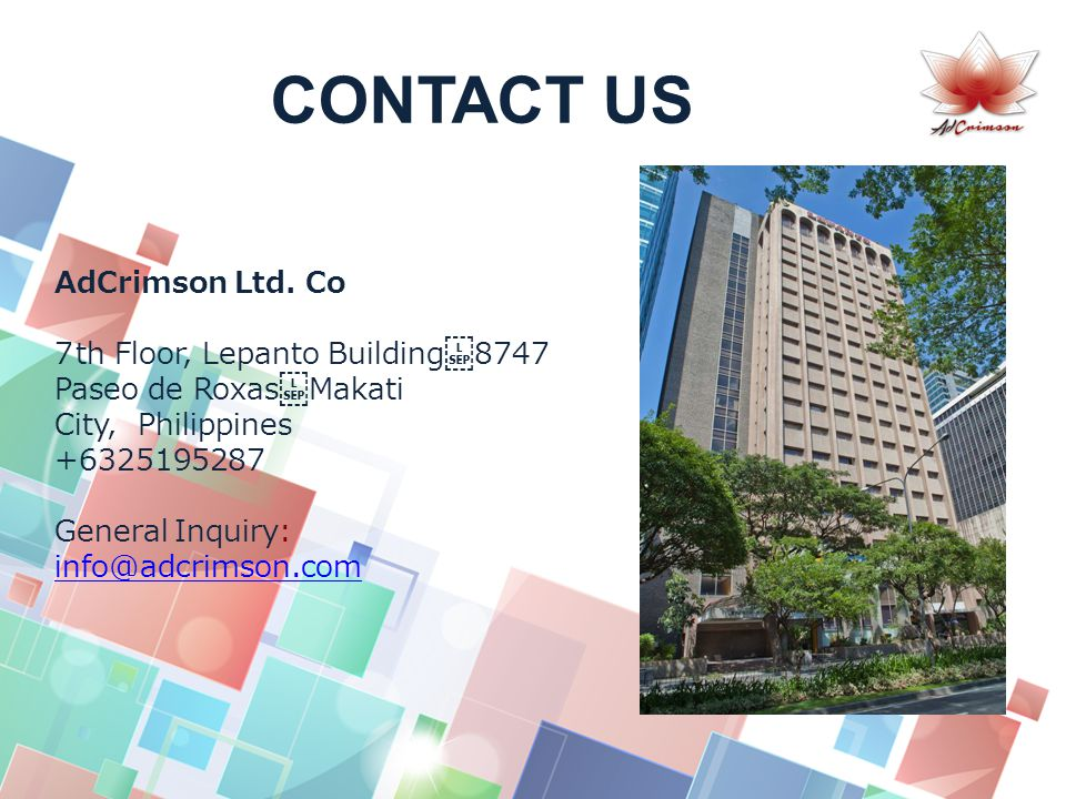 CONTACT US AdCrimson Ltd.