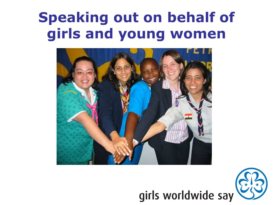 Speaking out on behalf of girls and young women
