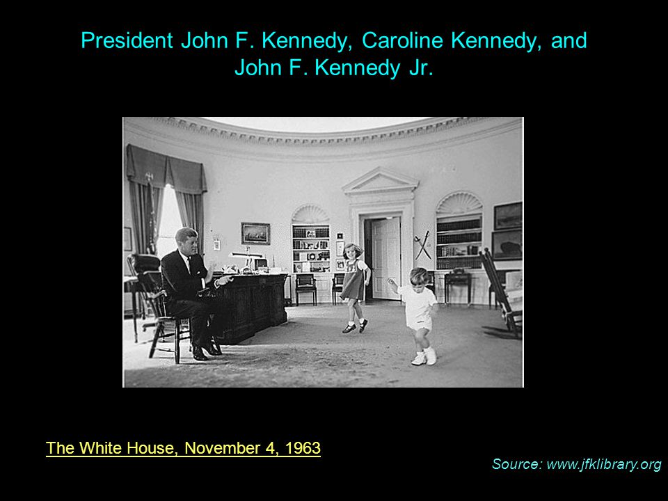The White House, November 4, 1963 President John F.