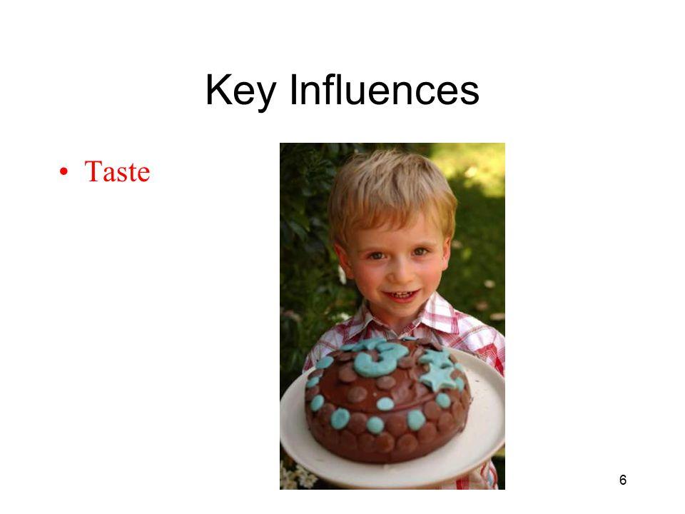 Key Influences Taste 6