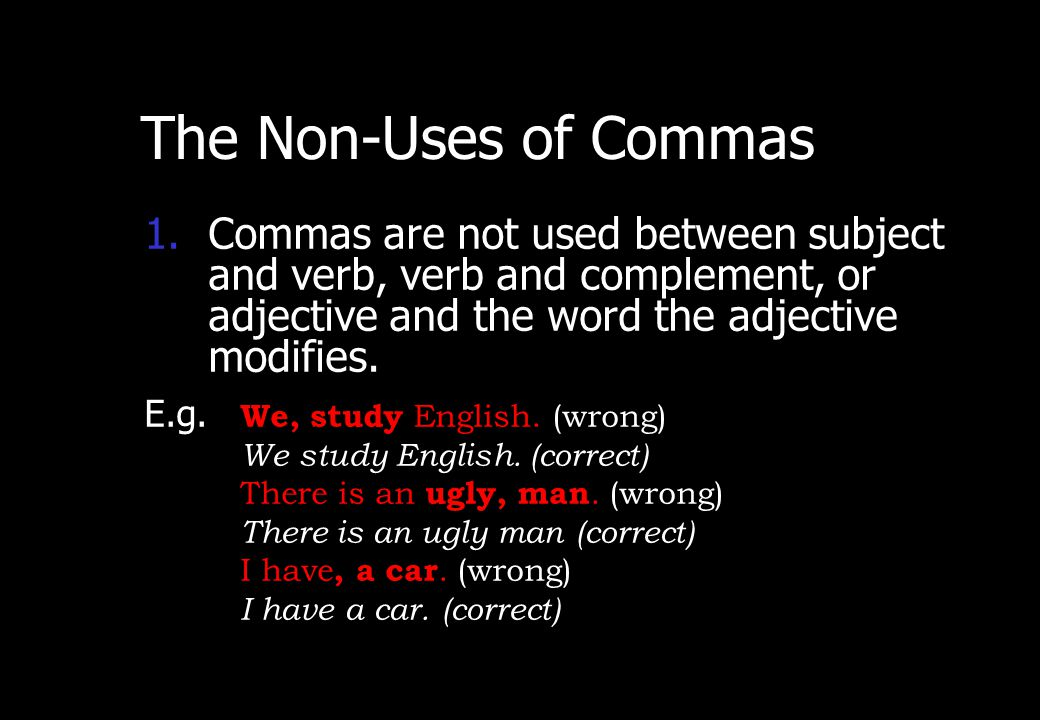 Wednesday, April 29, 2015 PREPARED BY ITH ESARA 16 The Non-Uses OfCommas PART TWO