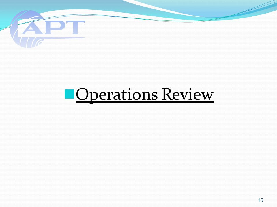 Operations Review 15