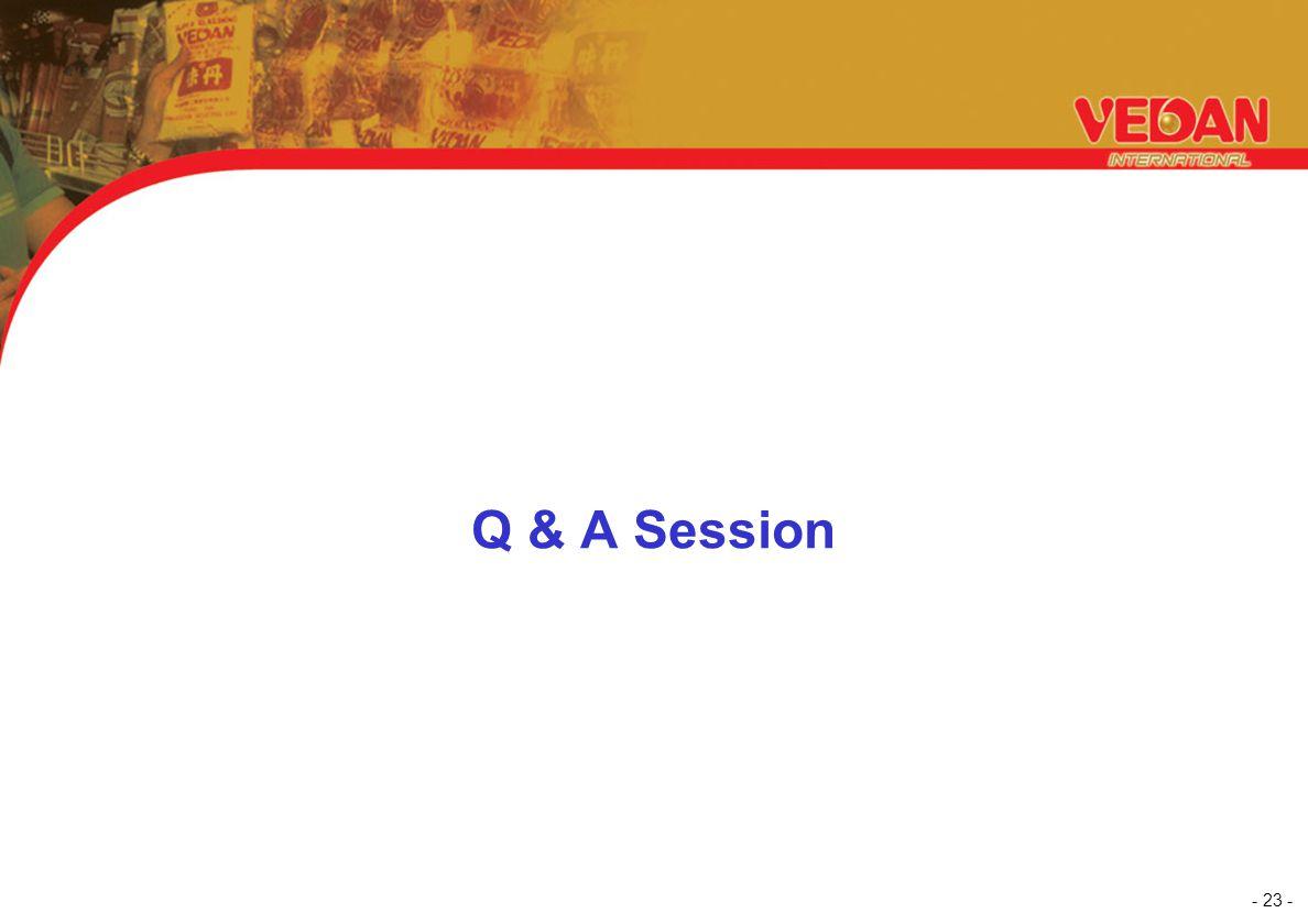 - 23 - Q & A Session