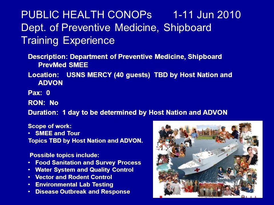 PUBLIC HEALTH CONOPs 1-11 Jun 2010 Dept.