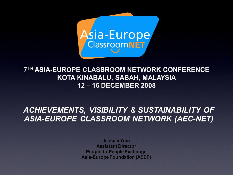 WEBSITES http://aeh.asef.org (ASEM Education Hub)  http://aeh.asef.org http://deep.asef.org (Database on Education Exchange Programmes)  http://deep.asef.org http://asefuan.org (ASEF University)  http://asefuan.org http://www.aec.asef.org (Asia-Europe Classroom Network) http://www.aec.asef.org