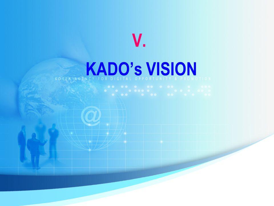 V. KADO's VISION