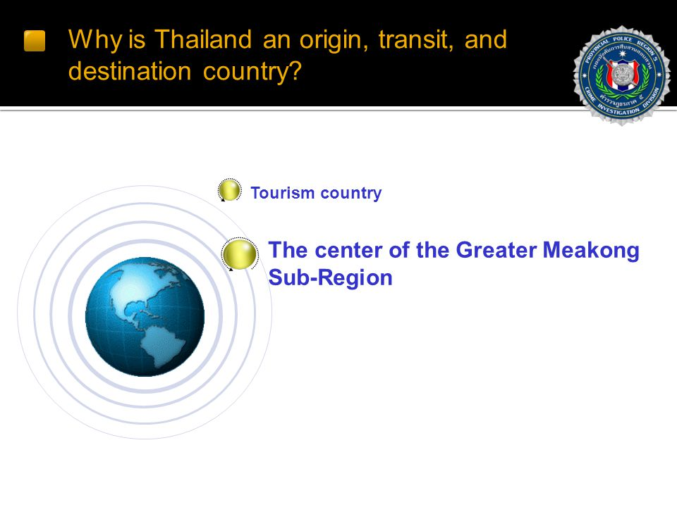 Why is Thailand an origin, transit, and destination country.