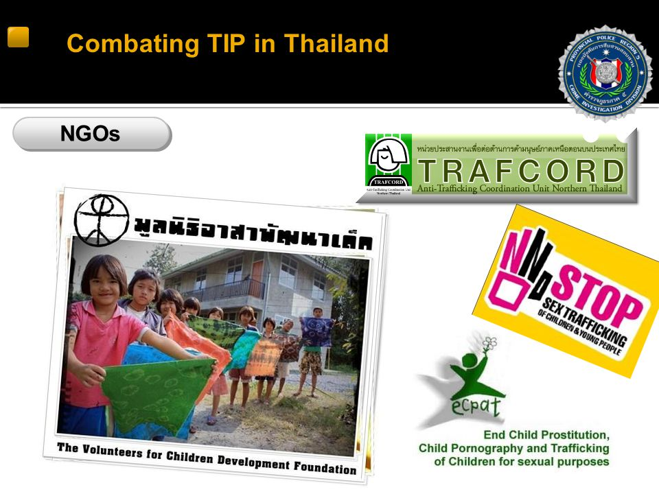 Combating TIP in Thailand NGOs