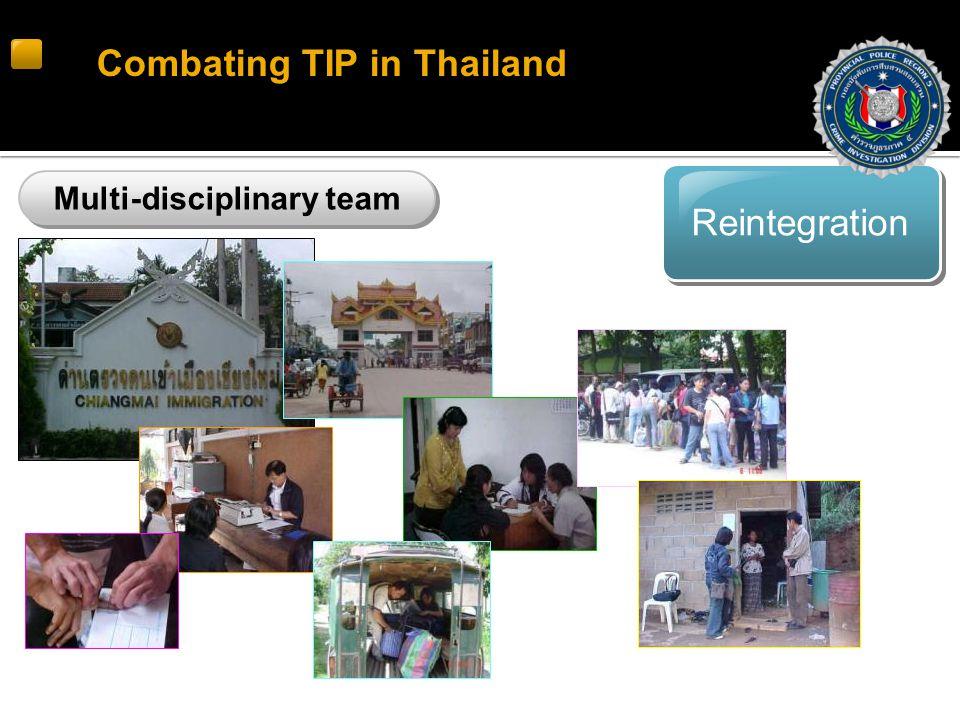 Reintegration Combating TIP in Thailand Multi-disciplinary team