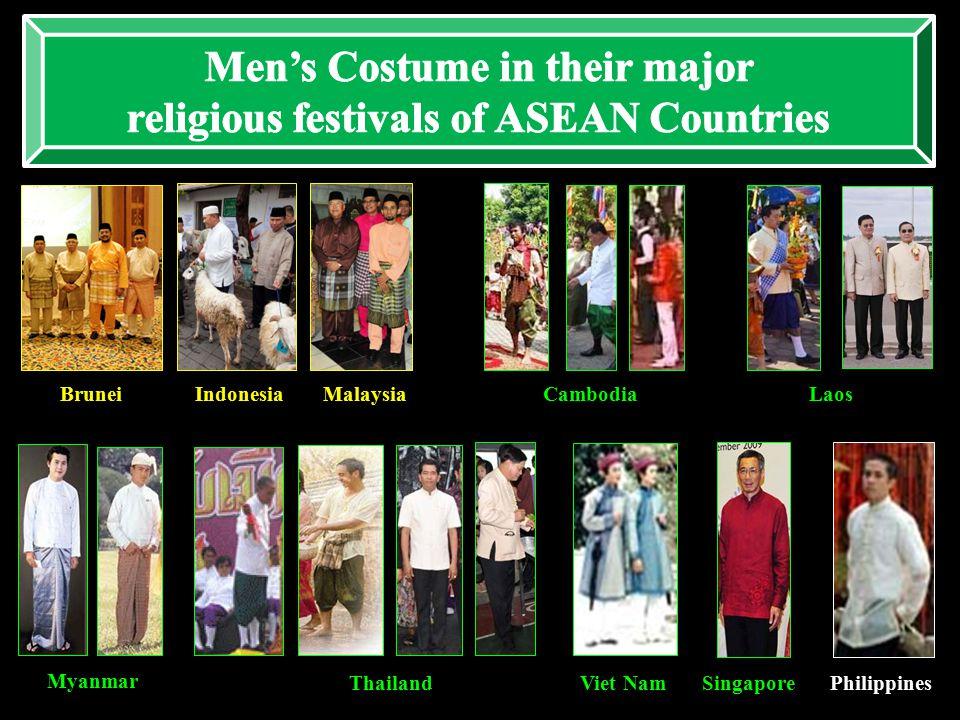 BruneiCambodiaIndonesiaMalaysiaLaos Myanmar ThailandViet NamSingaporePhilippines