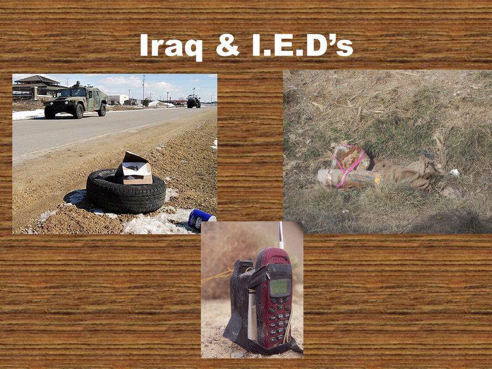 Iraq & I.E.D's