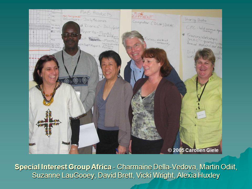 Special Interest Group Africa - Charmaine Della-Vedova, Martin Odiit, Suzanne LauGooey, David Brett, Vicki Wright, Alexia Huxley © 2005 Carolien Giele