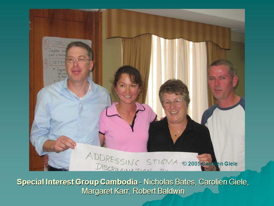 Special Interest Group Cambodia - Nicholas Bates, Carolien Giele, Margaret Karr, Robert Baldwin © 2005 Carolien Giele