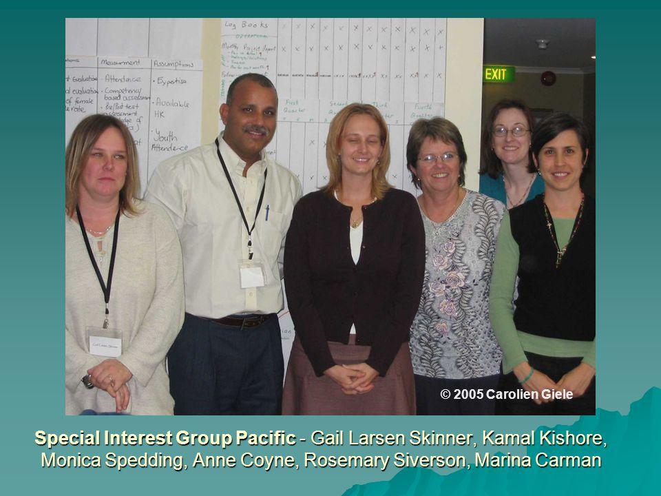 Special Interest Group Pacific - Gail Larsen Skinner, Kamal Kishore, Monica Spedding, Anne Coyne, Rosemary Siverson, Marina Carman © 2005 Carolien Giele