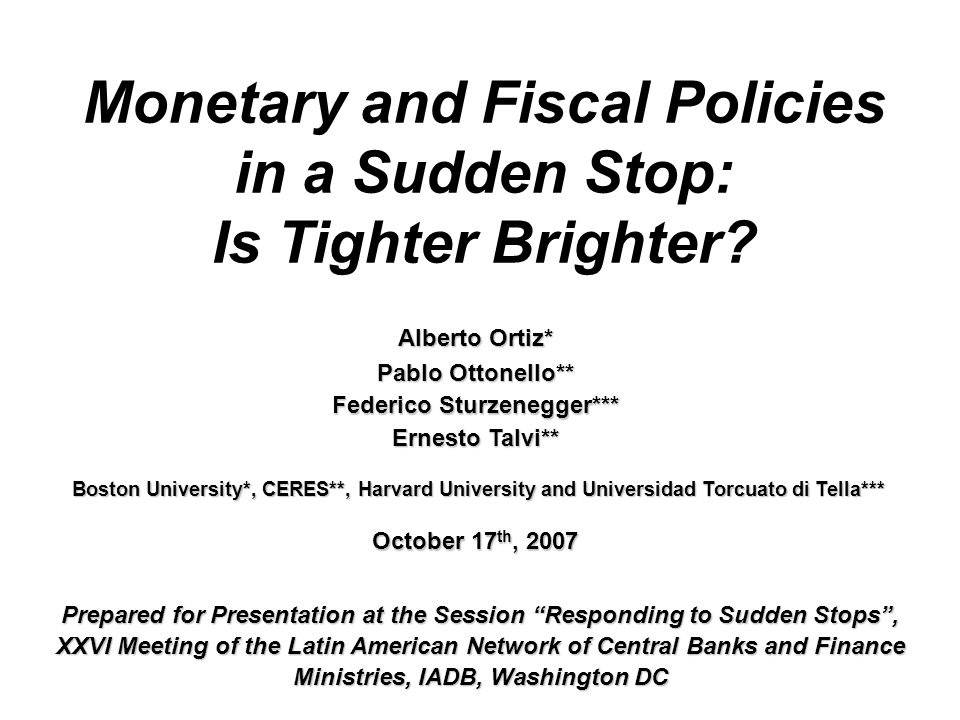 The Impact of Monetary and Fiscal Policy on Output in a SSS: Empirical Strategy Model IIModel II  We first compute as the dependent variable the output performance during SSS, as described by the (output) peak to trough variations ( ).