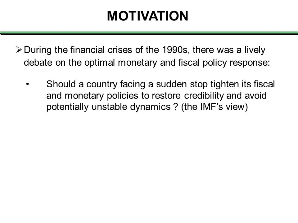  Stanley Fischer (1998), in the context of the Asian 1997 crisis, argued that: (…) when they approached the IMF, the reserves of Thailand and Korea were perilously low, and the Indonesian rupiah was excessively depreciated.