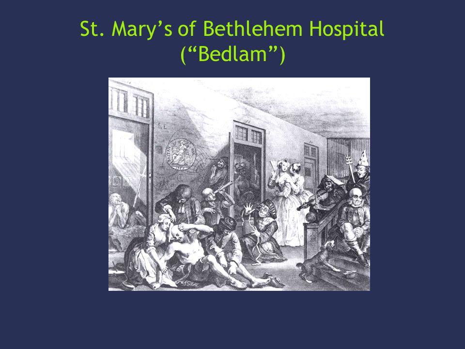 St. Mary's of Bethlehem Hospital ( Bedlam )