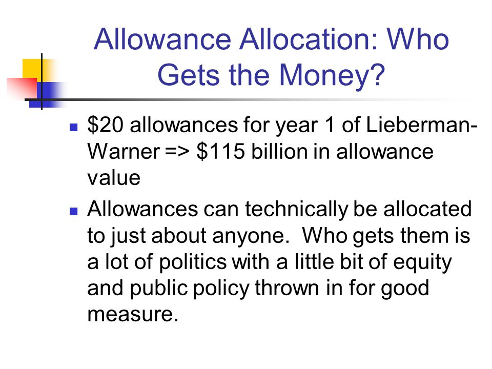 Allowance Allocation: Who Gets the Money.