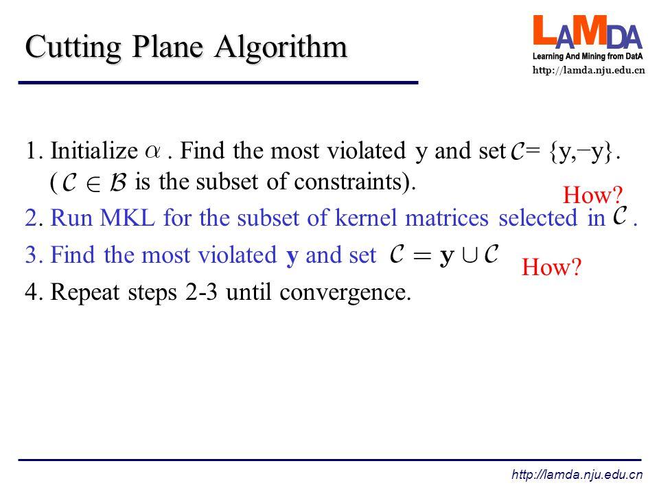 http://lamda.nju.edu.cn Cutting Plane Algorithm 1.