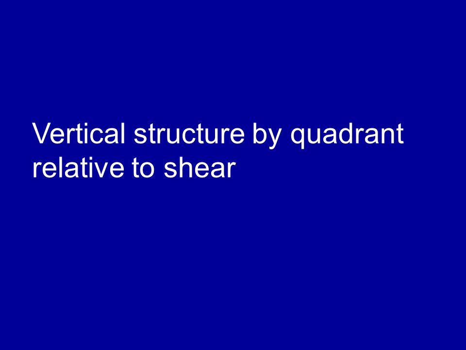 Vertical structure by quadrant relative to shear
