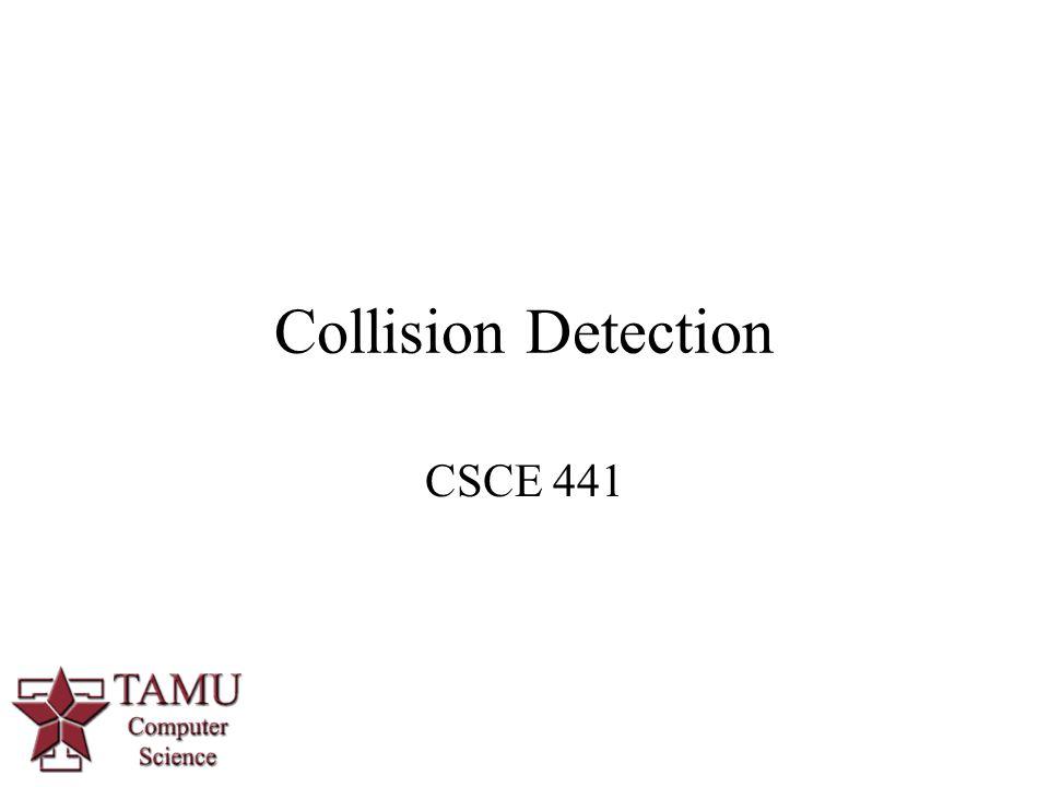 Collision Detection CSCE 441