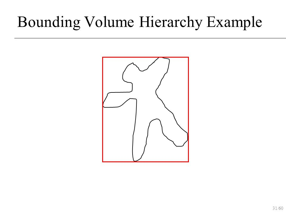 31/60 Bounding Volume Hierarchy Example