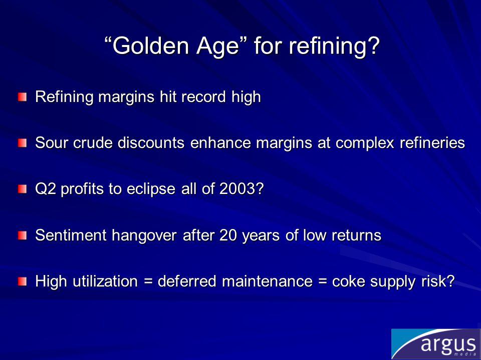 Sour crude discount favors complex refineries I