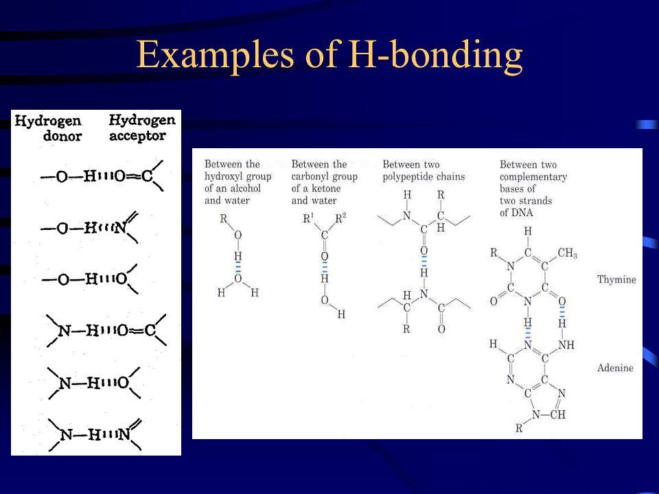 Examples of H-bonding