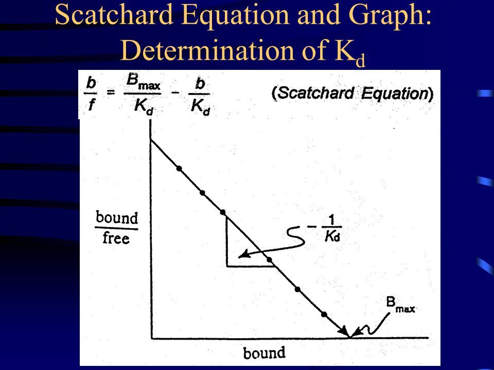 Scatchard Equation and Graph: Determination of K d