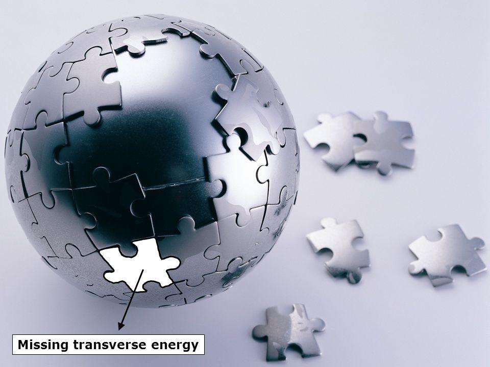 Missing transverse energy