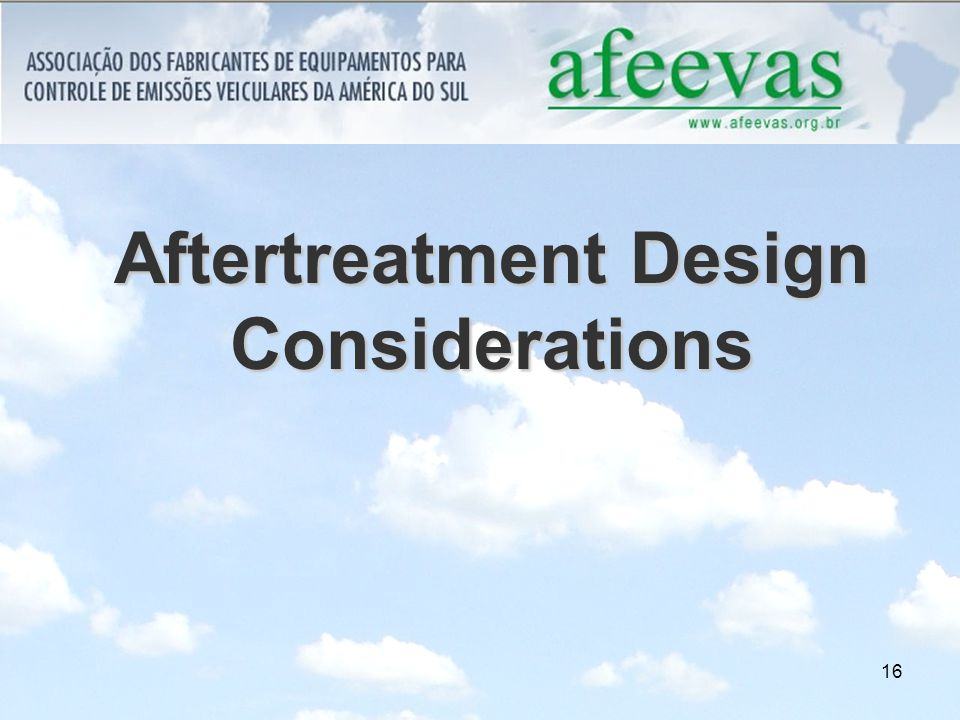 16 Aftertreatment Design Considerations