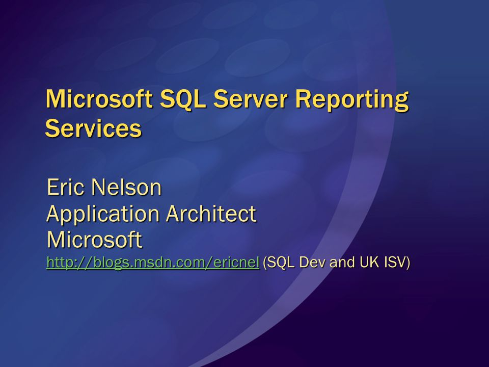Report Builder Client Built on top of familiar Microsoft Office paradigms (Excel, PowerPoint) Reports built via report templates (table, matrix, chart, combinations) Click once application deployed from the Report Server Users download and launch the client from Report Manager (new or existing report) Finished reports can be saved on the server